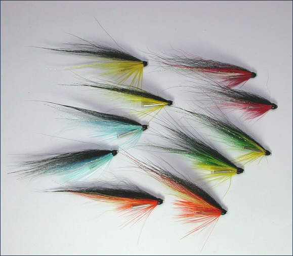 Blackback Salmon Needle Tube Flies