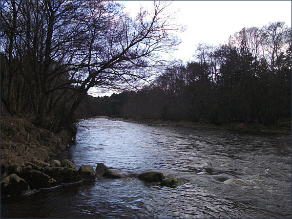 Salmon fishing on the River Nairn