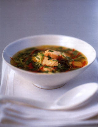 Salmon Recipe - Spicy Salmon Broth
