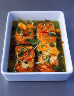 Salmon Recipe - Marinated Salmon