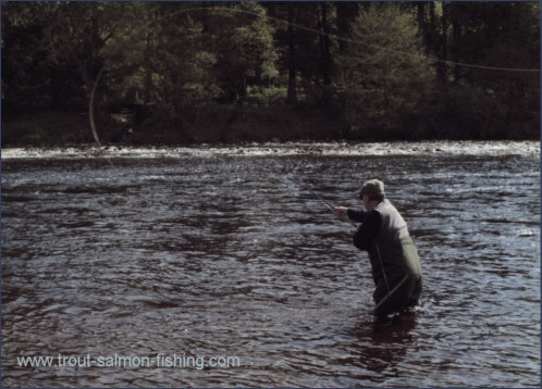 Spey casting on the River Ness