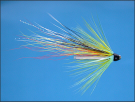 Beltra Badger Salmon Tube Fly