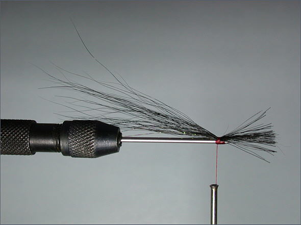 Black & Silver sea trout tube fly - step 3