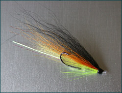salmon tube fly double hook with points up