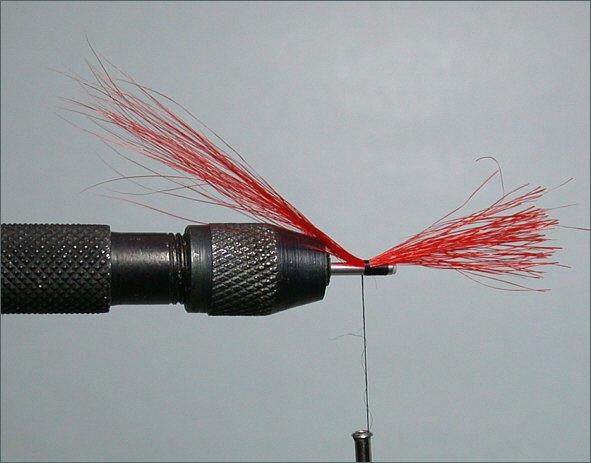 Fiery Cascade Needle Tube Fly - step 1