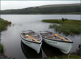 Loch Craggie Trout Fishing boats