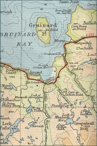 Map of Gruinard Bay