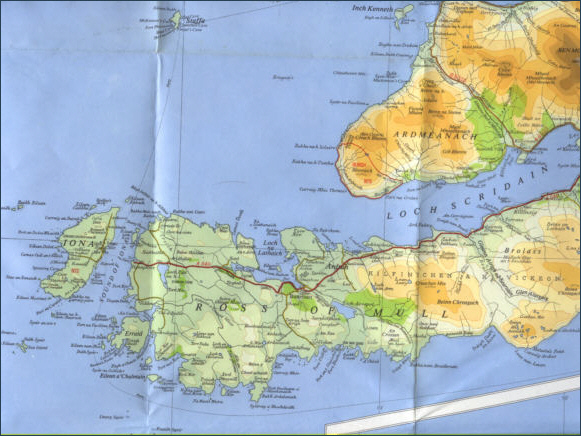 West Mull Fishing Map