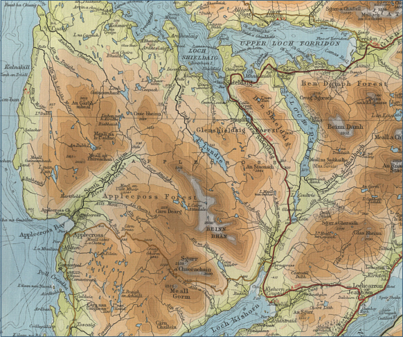 River Applecross Fishing Map