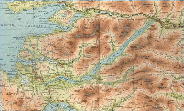River Shiel Map
