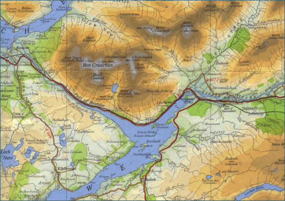 River Awe Fishing Map