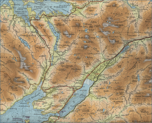 Map of the River Carron, Wester Ross