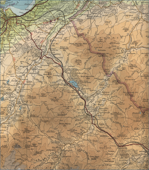 Upper River Findhorn map