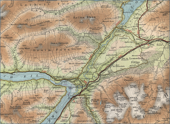 River Lochy Fishing Map