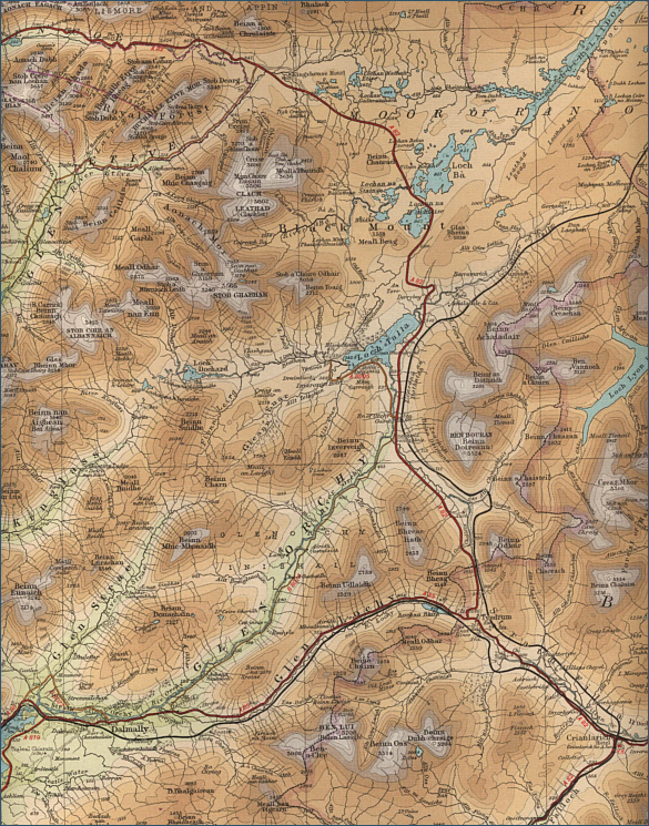 River Orchy Fishing Map
