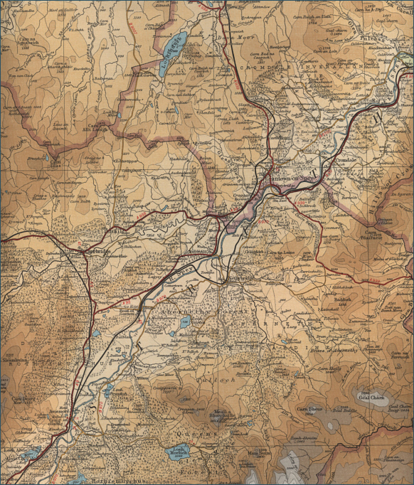 Middle River Spey Fishing Map