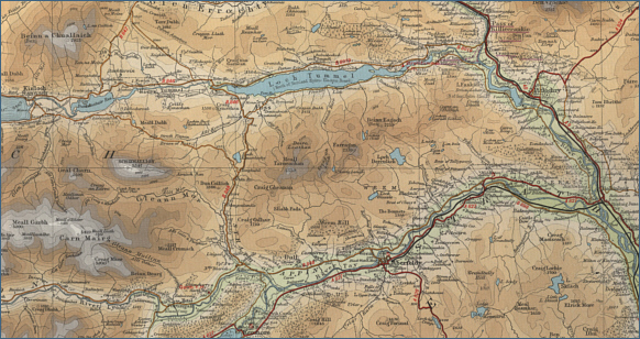 Map of the River Tummel