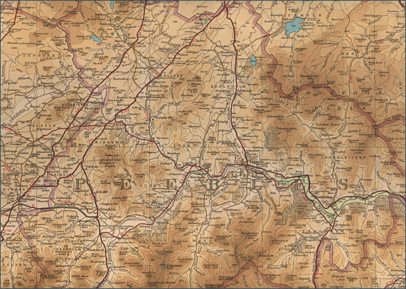 Upper River Tweed Map