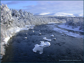 River Spey at in Winter