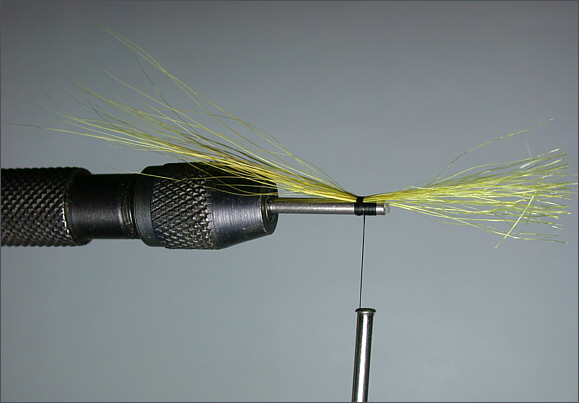 Scottish Shrimp Needle Tube Fly - step 1