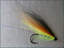 salmon tube fly with single hook