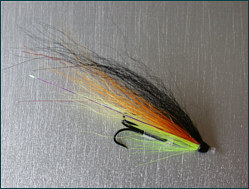 salmon tube fly with treble hook