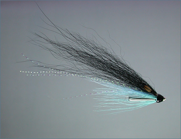 Wee Monkey Salmon Tube Fly - Blue